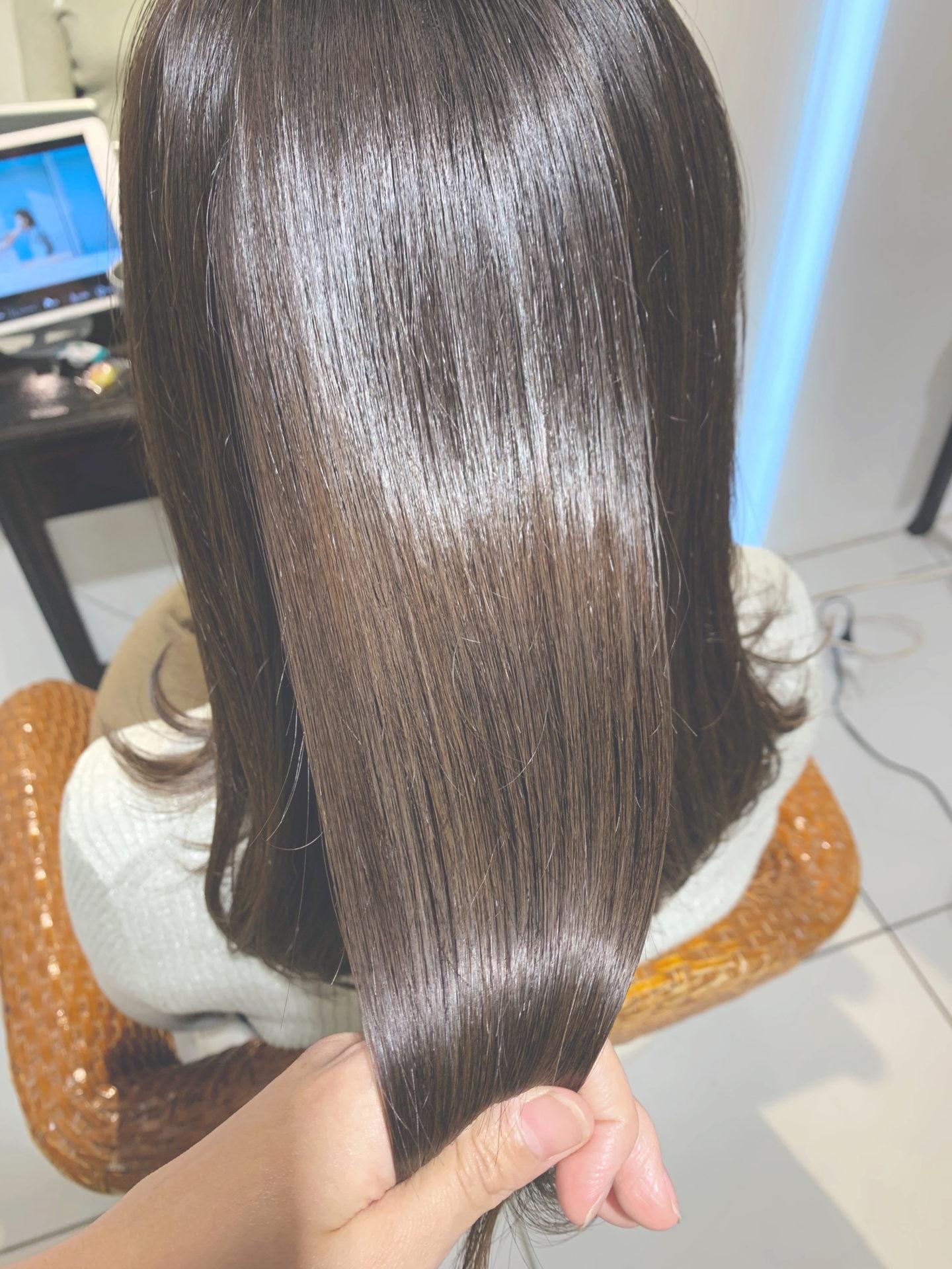 髪質改善オージュアトリートメント&枝毛カットでつやさらキューティクルへ♪