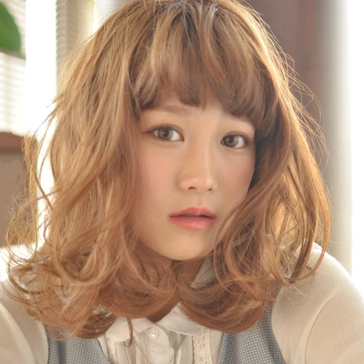 外国人風モテ髪愛されセミディ☆イノセントベージュ☆流行りのロブへア♪
