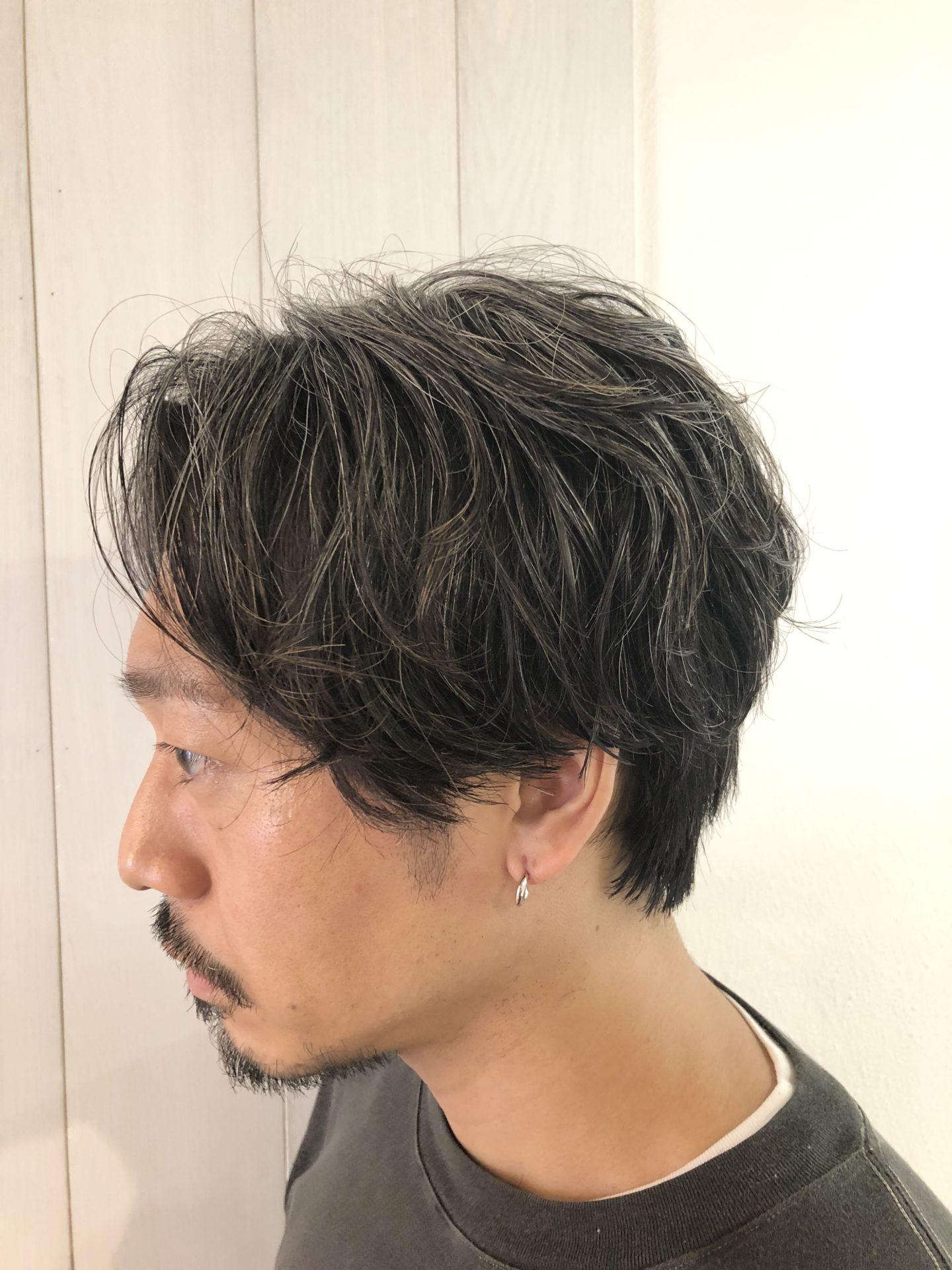 """MEN""""Sセンターパート×ウェーブパーマ"""