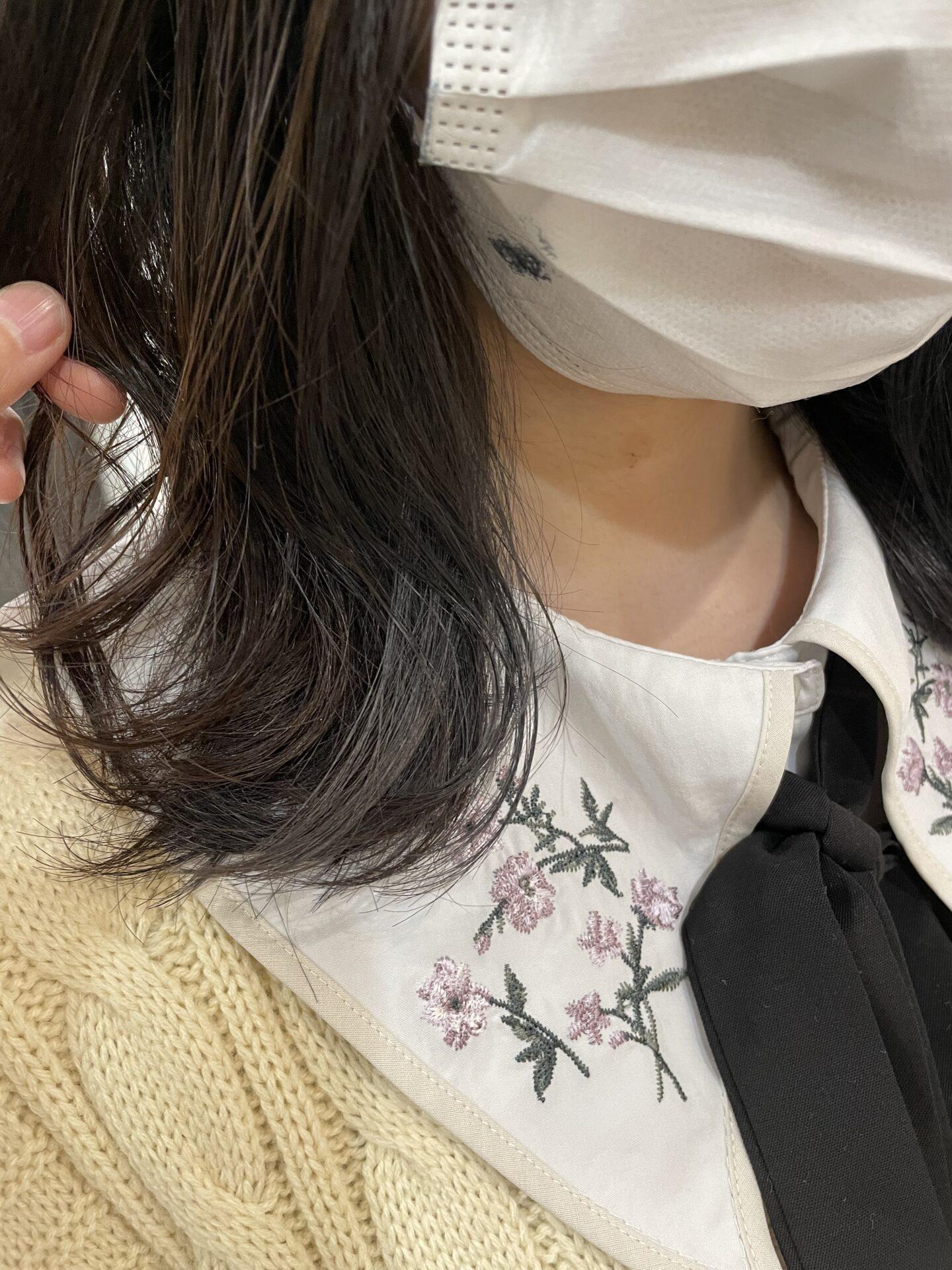 暗髪インナーカラー
